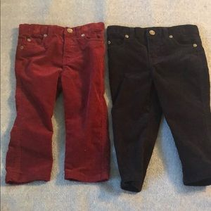 2 pair toddler boy's corduroy pants. Size 2T